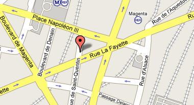 Plano de acceso de Hotel Paris Liege