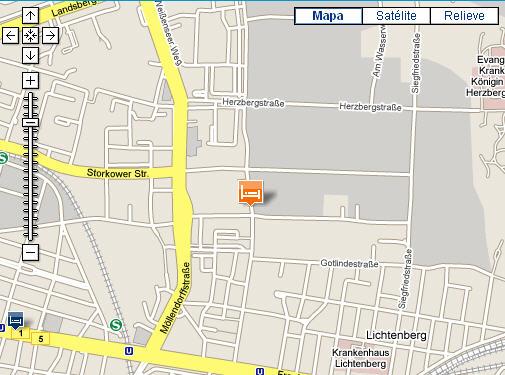 Plano de acceso de Hotel Grand City Globus Berlin (Ex. Ramada Globus)