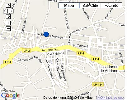 Plano de acceso de Hotel Valle Aridane