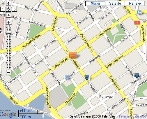 Plano de acceso de Hotel Sokos Aleksanteri