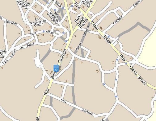 Plano de acceso de Hotel Oca Villa De Sarria