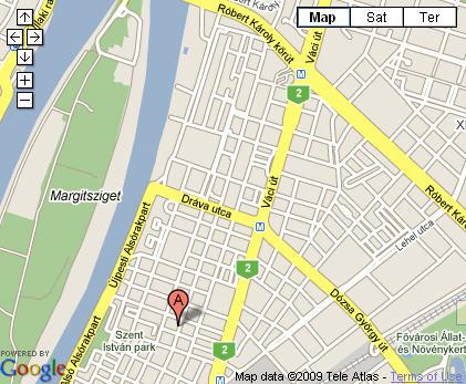 Plano de acceso de Adina Apartment Hotel Budapest