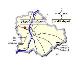 Plano de acceso de Danubius Hotel Budapest