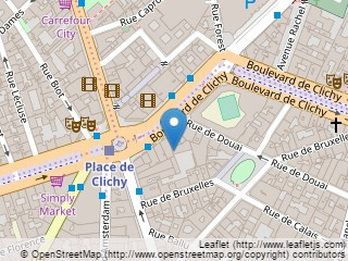 Plano de acceso de Hotel Place Clichy