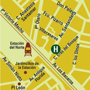 Plano de acceso de Hotel Eurostars Diana Palace
