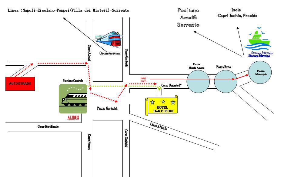 Plano de acceso de Hotel San Pietro
