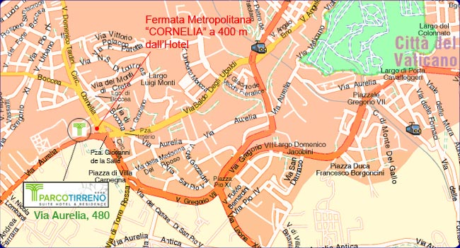 Plano de acceso de Hotel Parco Tirreno