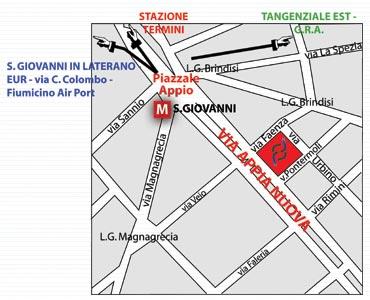Plano de acceso de Hotel Residence St. Joannes