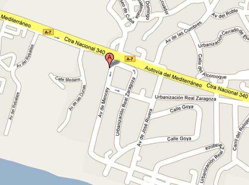 Plano de acceso de Hotel Vincci Selec. Estrella Del Mar