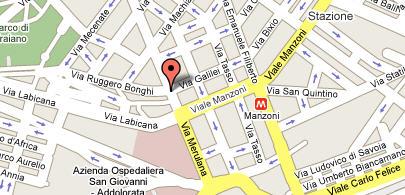 Plano de acceso de Hotel Al Centro Storico Di Roma