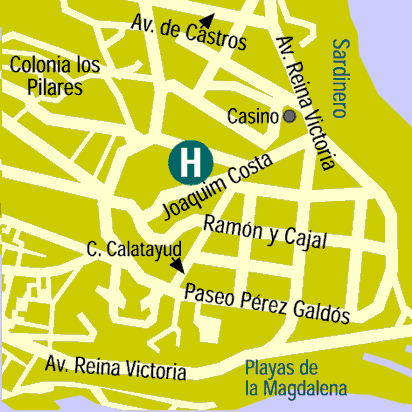 Plano de acceso de Hotel Santemar