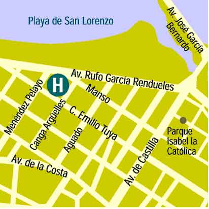 Plano de acceso de Hotel Civitas Principe De Asturias