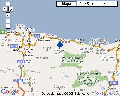 Plano de acceso de Grupo Hoteles La Pasera