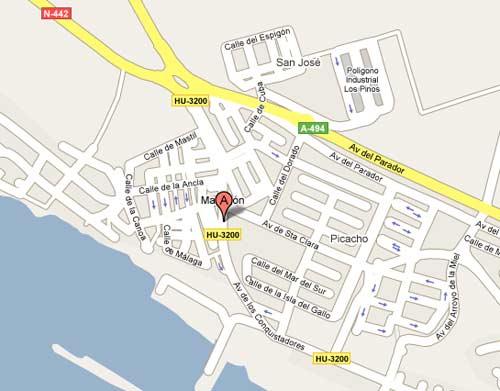 Plano de acceso de Hotel Apartamentos Martin Alonso Pinzon