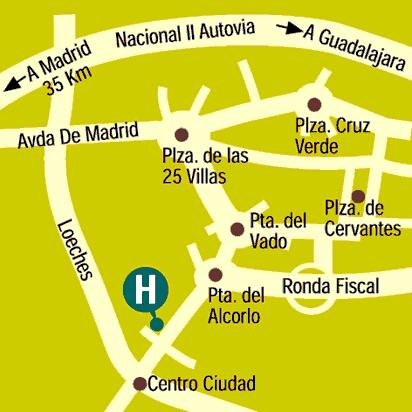 Plano de acceso de Cisneros Hotel