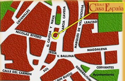 Plano de acceso de Hotel  Casa España