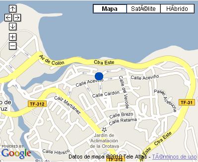 Plano de acceso de Hotel Hotasa Puerto Resort