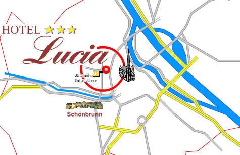 Plano de acceso de Hotel Lucia