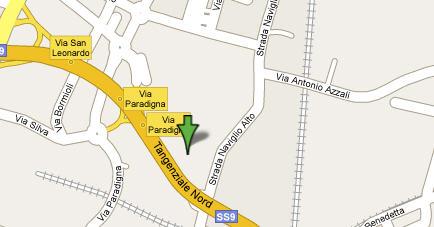 Plano de acceso de Hotel Express By Holiday Inn Parma