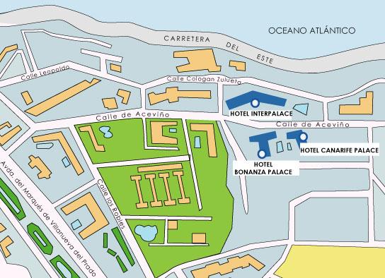 Plano de acceso de Hotel Hotasa Interpalace