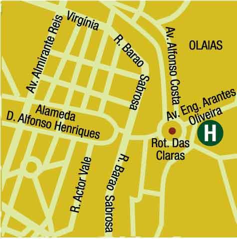 Plano de acceso de Hotel Altis Park