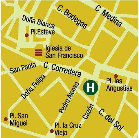 Plano de acceso de Hotel Tierras De Jerez