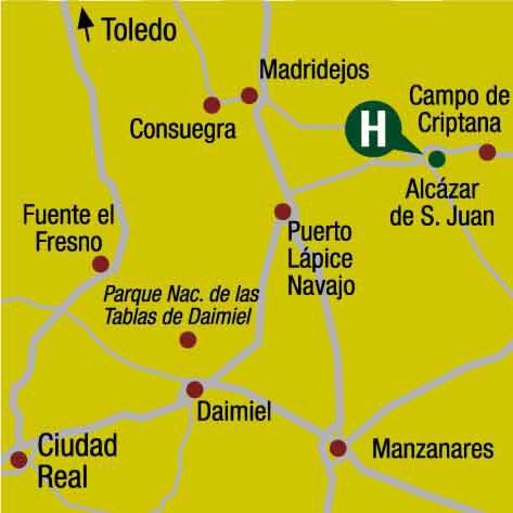 Plano de acceso de Hotel Ercilla Barataria