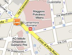 Plano de acceso de Hotel Romana Residence