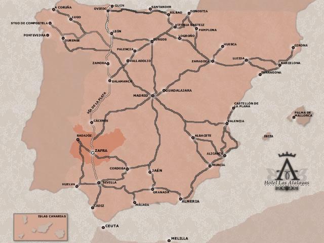 Plano de acceso de Hotel Las Atalayas