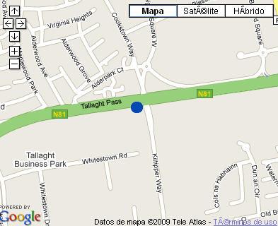 Plano de acceso de Maldron Hotel Tallaght