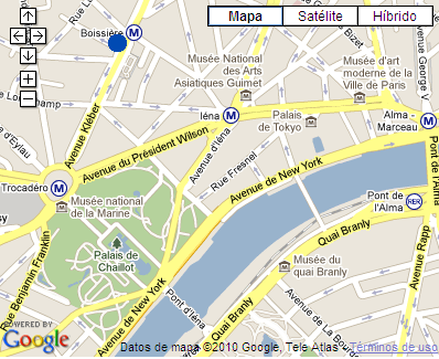 Plano de acceso de Baltimore Paris Hotel