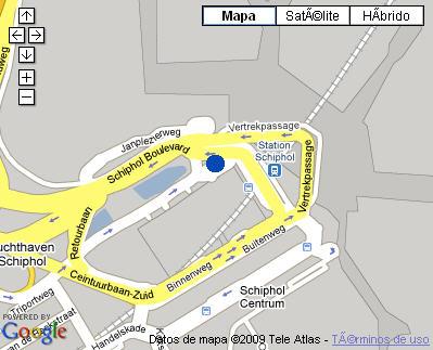 Plano de acceso de Hotel Sheraton Amsterdam Airport