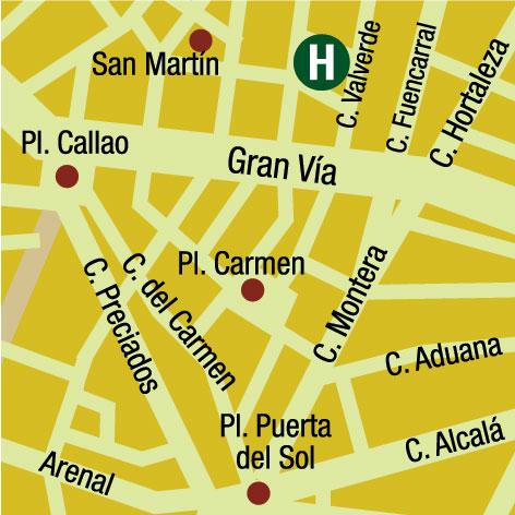 Plano de acceso de Hotel Sieteislas
