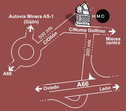 Plano de acceso de Hotel Mieres Del Camino