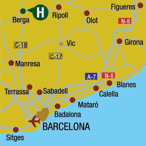 Plano de acceso de Hotel Ciutat De Berga