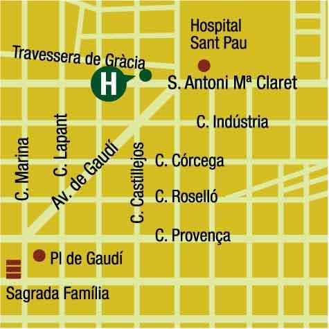 Plano de acceso de Hotel  Medicis
