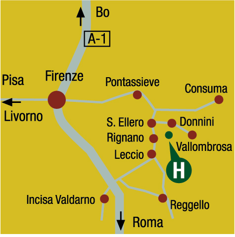 Plano de acceso de Hotel Villa Pitiana
