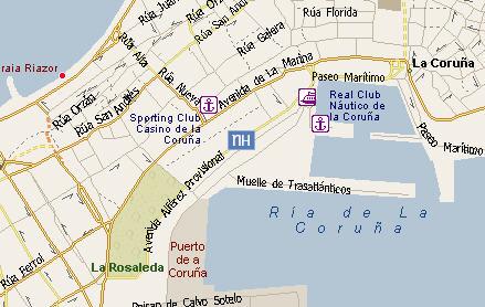 Plano de acceso de Hotel Nh Atlantico