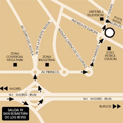 Plano de acceso de Hotel Nh San Sebastian De Los Reyes
