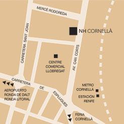 Plano de acceso de Hotel Nh Cornella