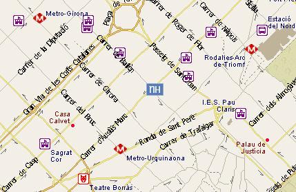 Plano de acceso de Hotel Nh Podium