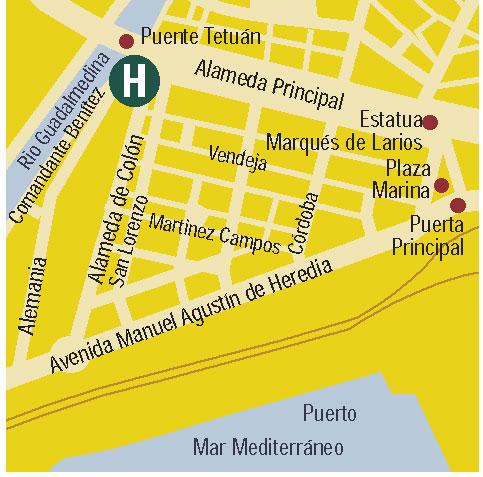 Plano de acceso de Hotel Eurostars Astoria