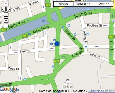 Plano de acceso de Hotel Westin Dublin