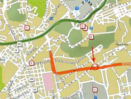 Plano de acceso de Hotel Buono
