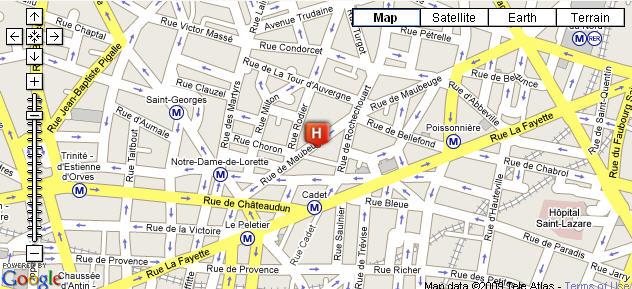 Plano de acceso de Hotel Palmon Opera