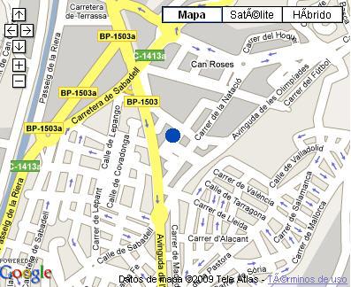Plano de acceso de Hotel Hlg Terranova