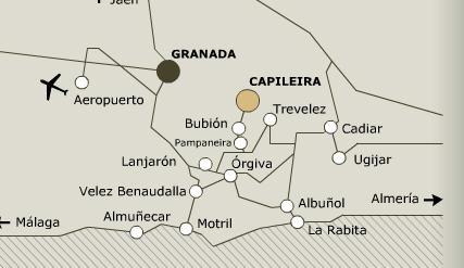 Plano de acceso de Hotel Finca Los Llanos