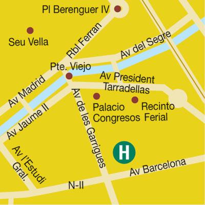 Plano de acceso de Hotel Condes De Urgell