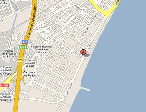 Plano de acceso de Hotel Vincci Malaga