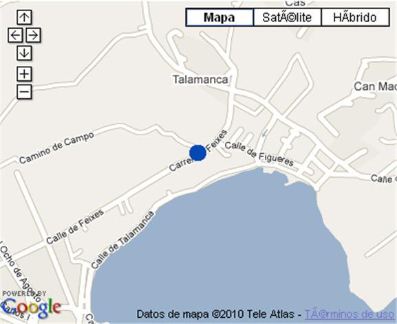Plano de acceso de Hotel Playa Real